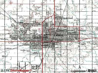 Enid topographic map