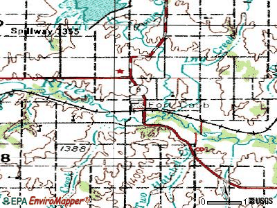 Fort Cobb topographic map