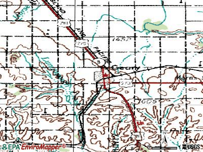Geary topographic map