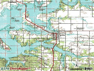 Grove topographic map