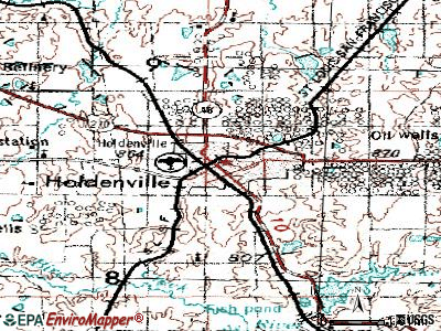 Holdenville topographic map
