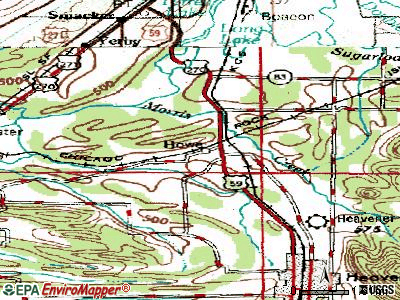 Howe topographic map