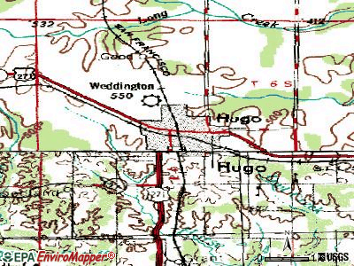 Hugo topographic map
