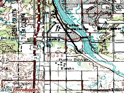 Jenks topographic map