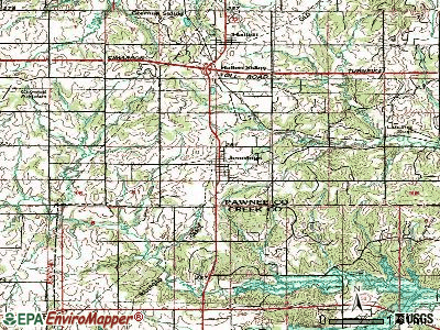 Jennings topographic map