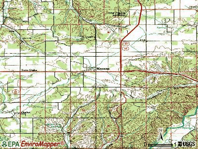 Kansas topographic map