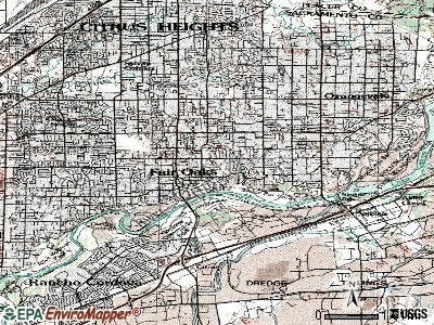 Fair Oaks topographic map