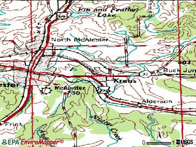 Krebs topographic map