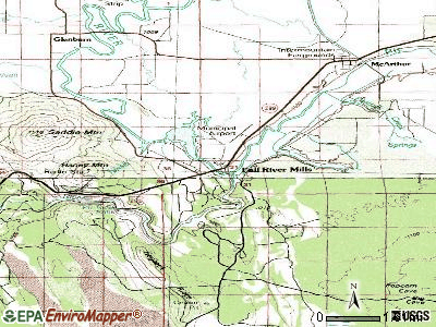 Fall River Mills topographic map