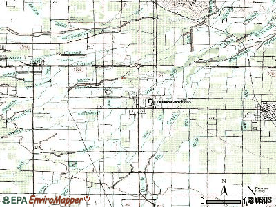 Farmersville topographic map
