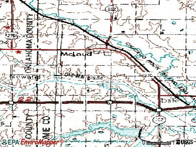 McLoud topographic map