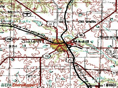 Madill topographic map