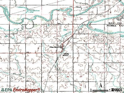 Marland topographic map