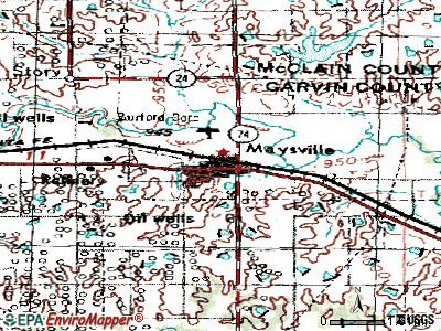 Maysville topographic map