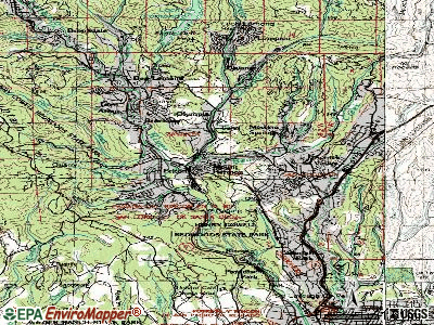 Felton topographic map