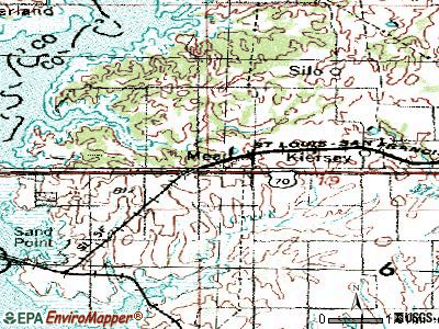 Mead topographic map