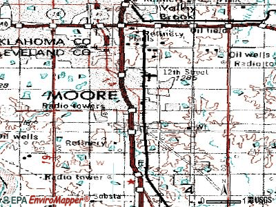 Moore topographic map