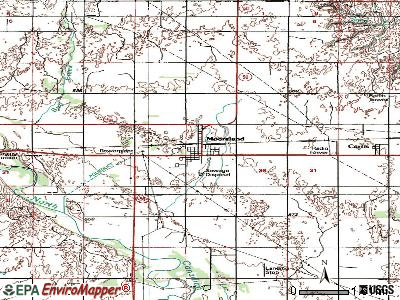 Mooreland topographic map