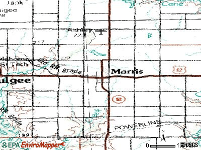Morris topographic map