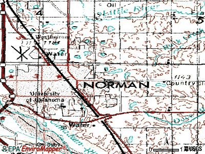 Norman topographic map