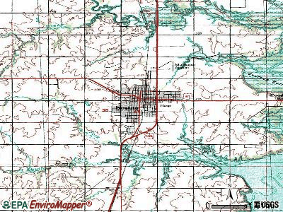 Nowata topographic map