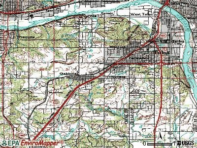 Oakhurst topographic map