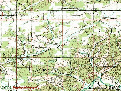 Oaks topographic map