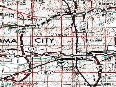 Oklahoma City topographic map
