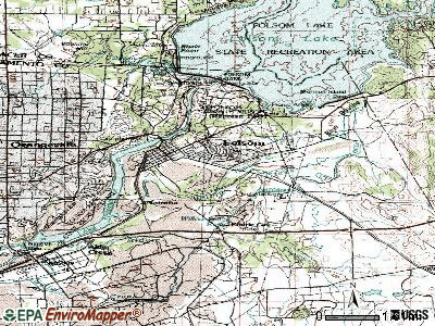 Folsom topographic map