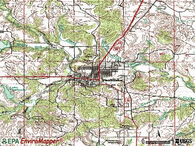 Pawhuska topographic map