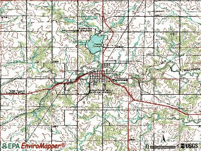 Pawnee topographic map
