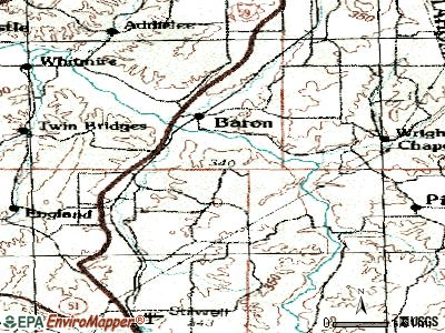 Peavine topographic map