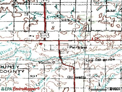 Perkins topographic map