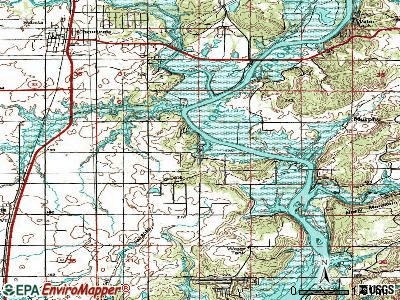 Pin Oak Acres topographic map