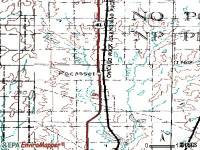 Pocasset topographic map