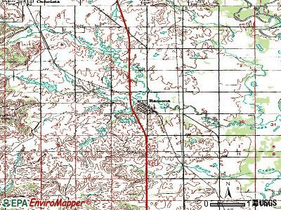 Ramona topographic map