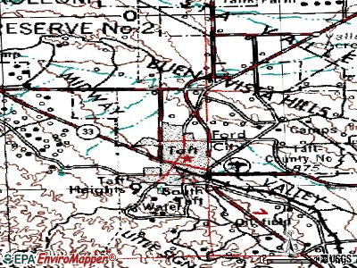 Ford City topographic map