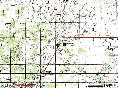 Ringwood topographic map