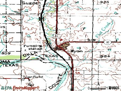 Ryan topographic map