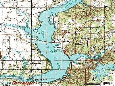 Salina topographic map