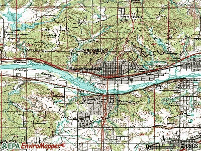 Sand Springs topographic map