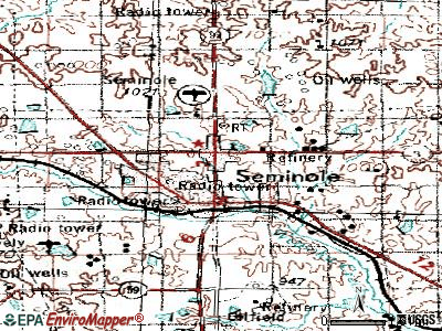 Seminole topographic map