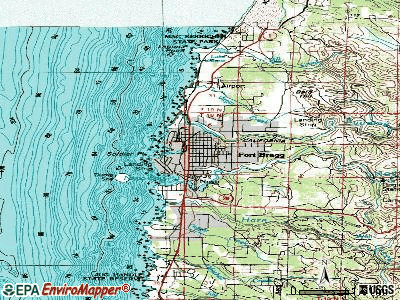 Fort Bragg topographic map