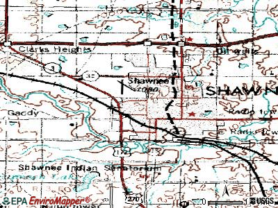 Shawnee topographic map