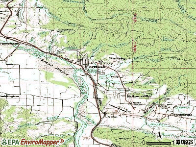 Fortuna topographic map