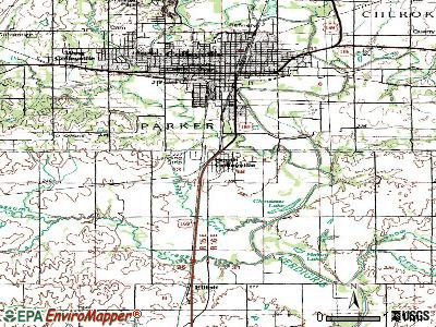 South Coffeyville topographic map