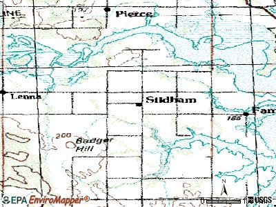 Stidham topographic map