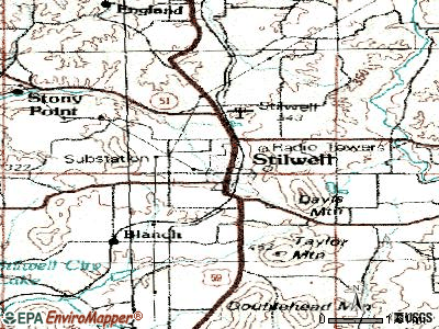 Stilwell topographic map