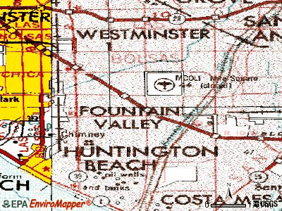 Fountain Valley topographic map