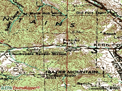 Frazier Park topographic map